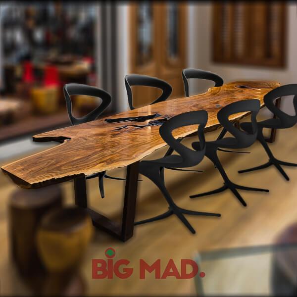 Mesa de Jantar Tora de Madeira Macica V