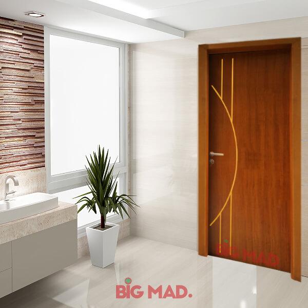 Porta de Madeira Sólida Dubai