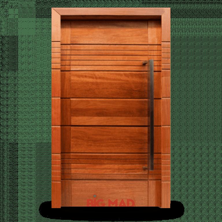 Porta Pivotante de Madeira Macica 8 Frisos