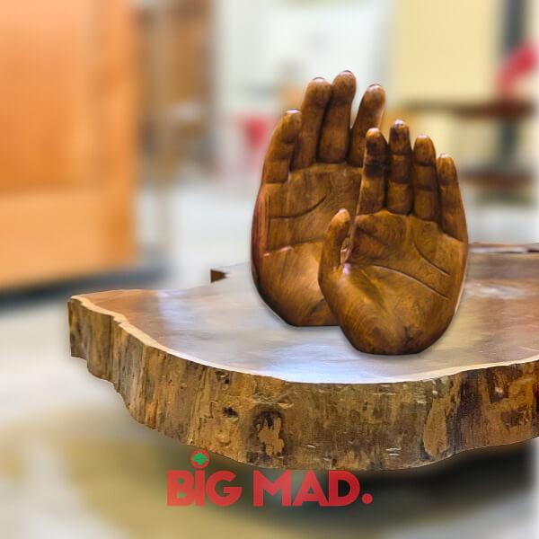 Escultura de Madeira Macica Hand2