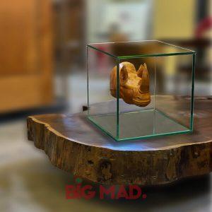 Escultura em Vidro rinoceronte