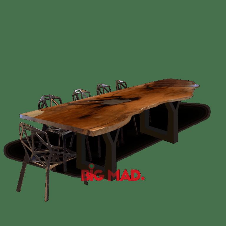 Mesa de Jantar Tora de Madeira Resinada