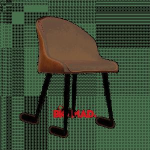 Cadeira Louise Com Estofado e Couro