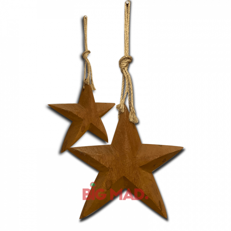 Pendente de madeira maciça estrela