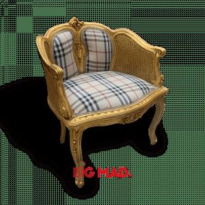 Poltrona de Madeira Design Burberry