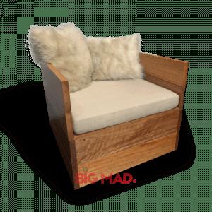 Poltrona de Madeira Design Chaise Lambri