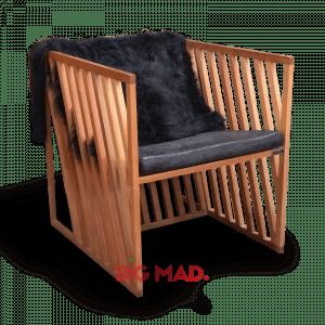 Poltrona de Madeira Design Grid