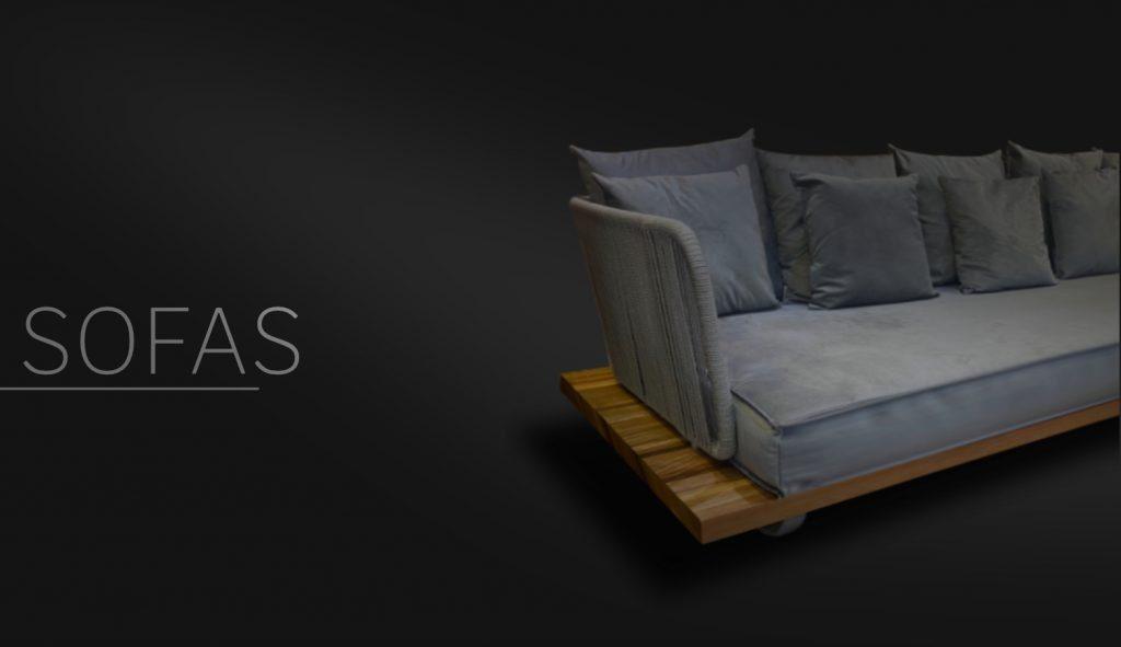 Sofas de Madeira design de luxo
